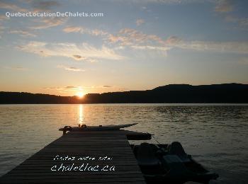 Location de chalet, Lac Archambault