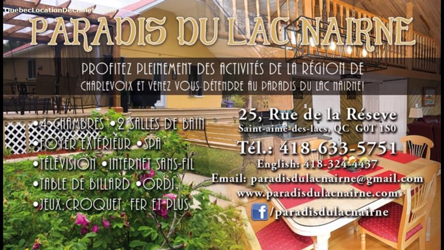 chalet à louer Charlevoix, Saint-Aimé-des-Lacs (pic-11)
