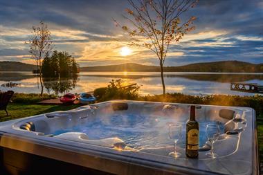 chalets bord de l'eau riverains Lac-Sergent, Québec