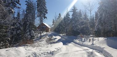chalets en bois rond Wentworth-North, Québec