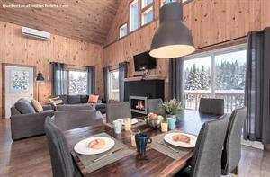 Cottage rental | New-Ô Chalet la détente et rivière, spa, ski Alpin