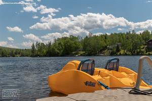chalets bord de l'eau riverains Rivière-à-Pierre, Québec