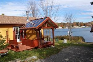 chalets à louer bord de l'eau Portneuf, Québec
