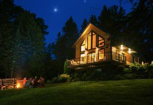chalets en bois rond Coaticook, Estrie/Cantons-de-l'est