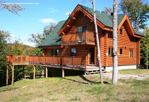 chalets en bois rond Mont-Tremblant, Laurentides