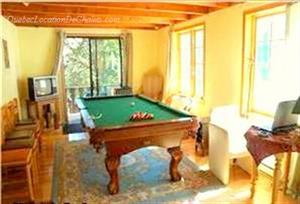 Cottage rental | Cottage with spa and pool table