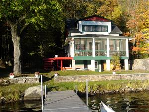 waterfront cottage rentals Saint-Hippolyte, Laurentides