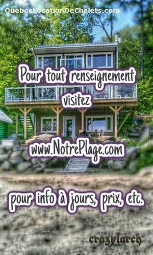 chalets à louer bord de l'eau Duhamel, Outaouais