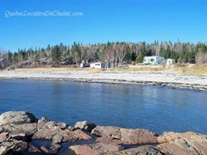 chalets à louer bord de l'eau Baie Trinité, Côte-Nord