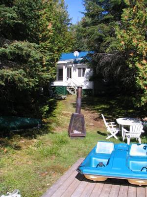 chalets à louer bord de l'eau Val-des-Lacs, Laurentides