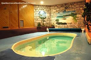 chalet avec piscine int�rieure