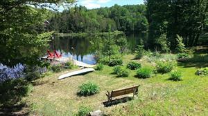 chalets à louer bord de l'eau Amherst, Laurentides