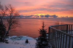 waterfront cottage rentals Saint-Siméon, Charlevoix