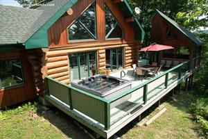chalets en bois rond Lac Simon, Outaouais